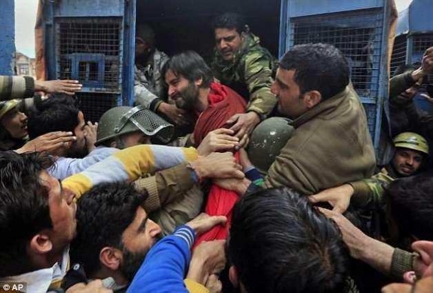Yasin Malik slams arrest of JKLF activists in IOK