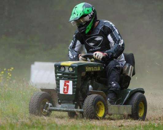 British Lawn Mower Racing Event in West Sussex