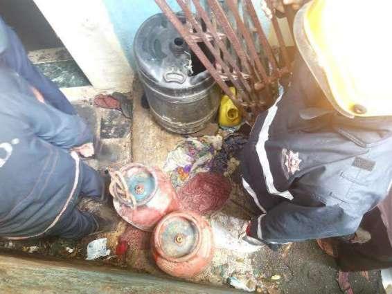 Four injures in cylinder blast