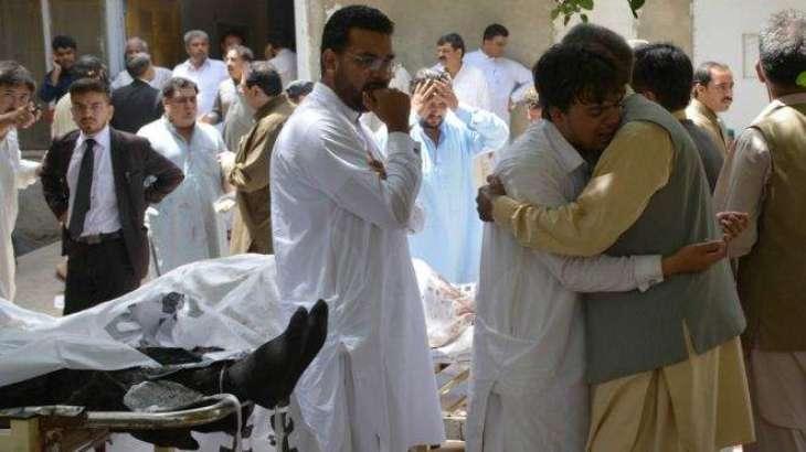 د كوئټه په سول روغتون كښې بمي چاودنه٬  30 كسان مړه٬ 20 ژوبل چاودنه د بلوچستان بار اېسوسي اېشن د وژل شوي صدر بلال كانسي د پوسټ مارټم په مهال شوې٬ د كوئټه په روغتونو كښې بېړنې حالت نافذ كړې شوې