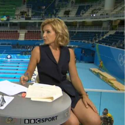 Adlington was spotted while squeezing her co-host thigh; Helen Skelton's outfit excited her viewers