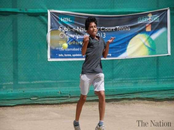 Subh-e-Nau tennis coaching Camp from Wednesday