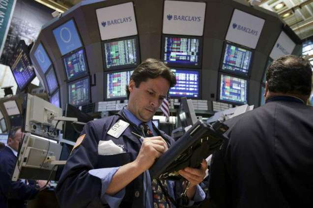 US stocks slip from records but oil shares rise
