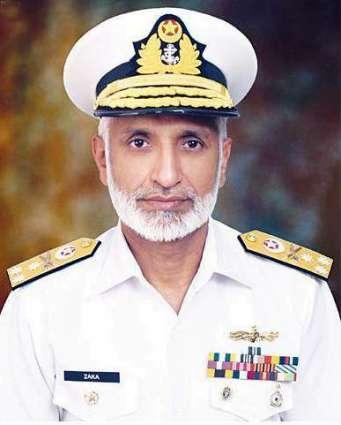Naval Chief Admiral Muhammad Zakaullah arrived in Quetta