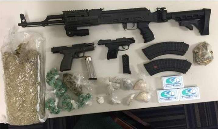 37 held with drugs, weapons