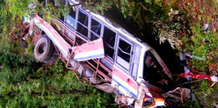 Passenger bus fell into a ravine near Kahuta, 2 killed and 16 injured