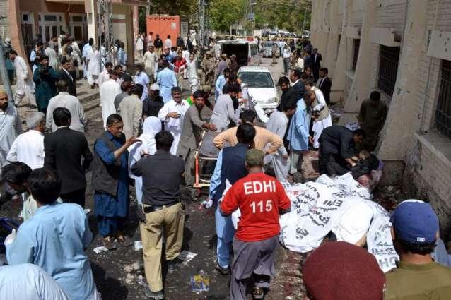 کوئٹہ دھماکے دے بئے15 زخمی لوکاںکوں کراچی دے مقامی ہسپتال منتقل کرڈتا گیا