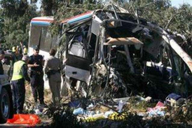 17 killed in Peru bus collision
