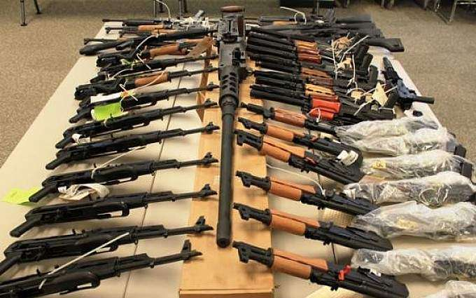Four arrested, arms recovered