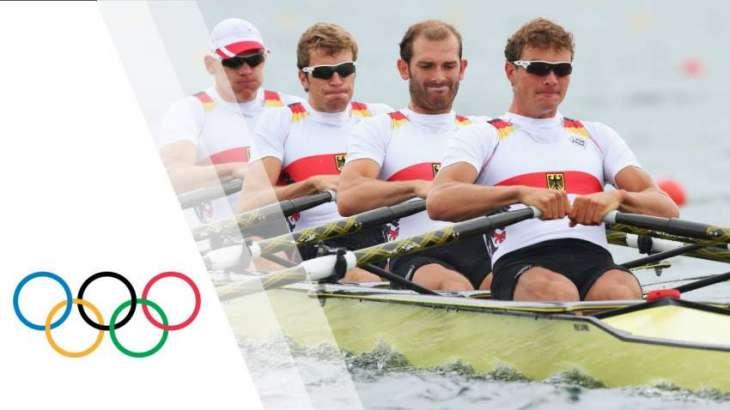 Olympics: Germany win first rowing gold in men's quadruple skulls