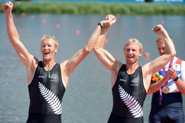 Olympics: New Zealand retain men's pair rowing gold