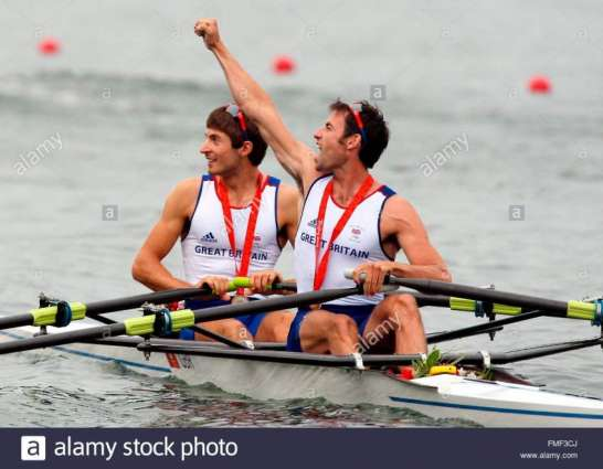 Olympics: Men's rowing double sculls podium
