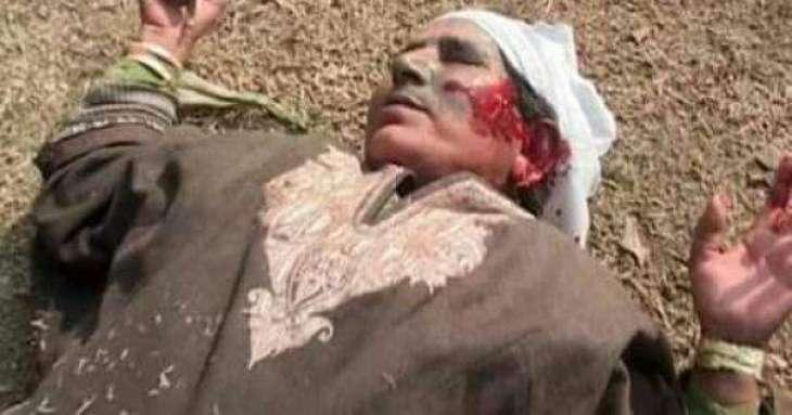 Elderly woman dies of shock after troops train guns at her in IOK