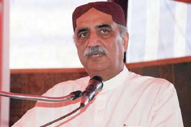 opposition leader Khursheed Shah reacts to what Interior Minister said