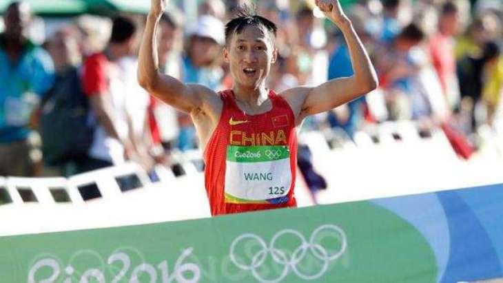 Olympics: Wang leads China 1-2 in men's 20km race walk