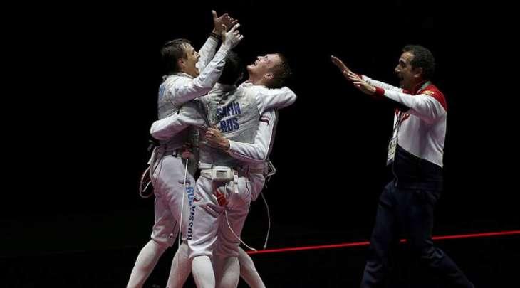 Olympics: Russia win men's team foil fencing gold