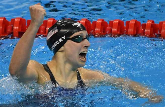 Olympics: Ledecky wins women's 800m freestyle gold in new world record