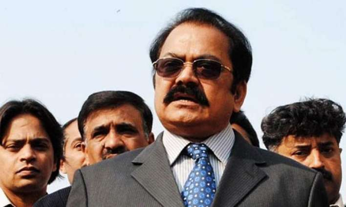 Rana Sanaullah presents Rs 3.2m cheque to widow of rescuer