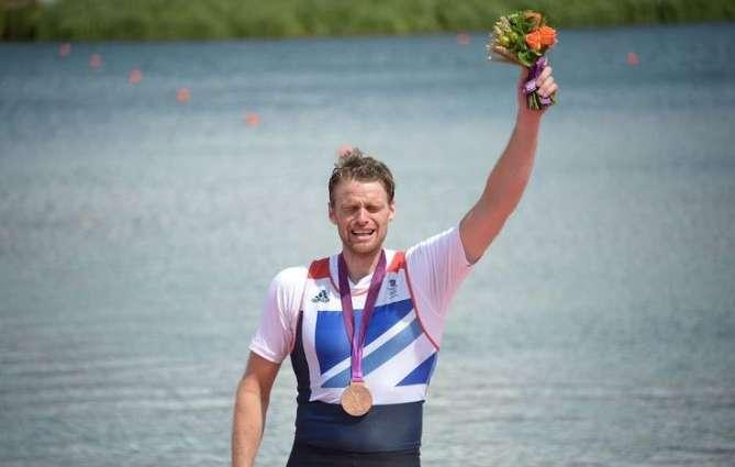 Olympics: Men's rowing single sculls podium