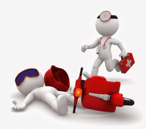Karachi: Traffic accident, 1 motorcyclist injured