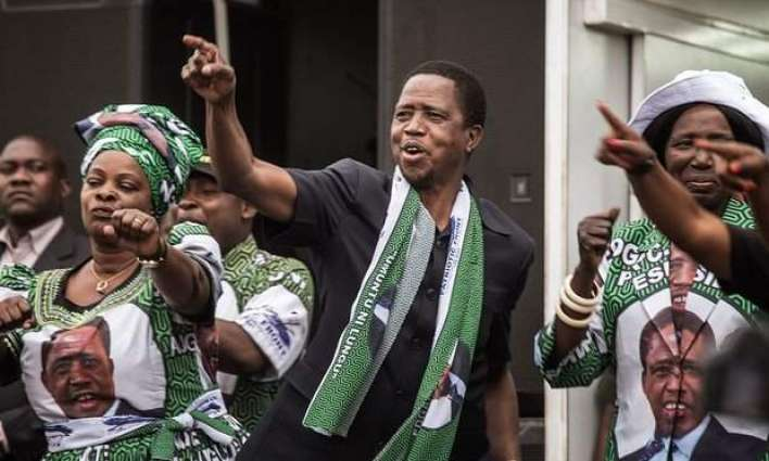 Zambia president Lungu re-elected in disputed polls: commission