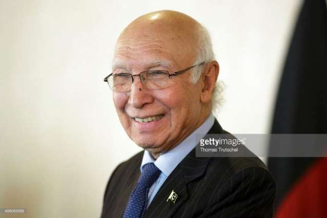 Kashmir issue cannot be resolved through bullets: Sartaj reminds