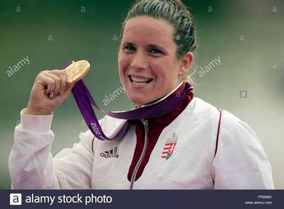Olympics: Women's marathon 10 km open water podium