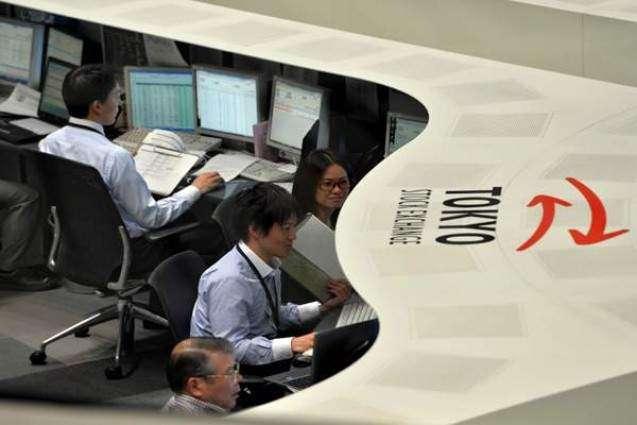 Tokyo stocks slip by break