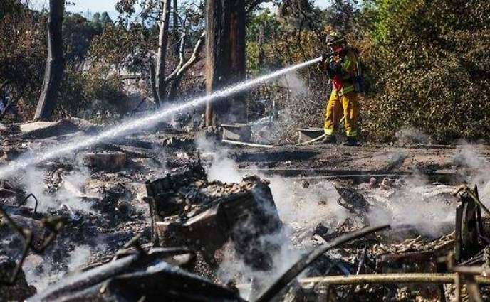 Man arrested for starting raging wildfire in California