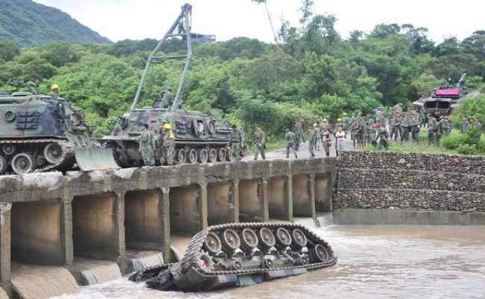 Three soldiers dead as tank plunges into river in Taiwan