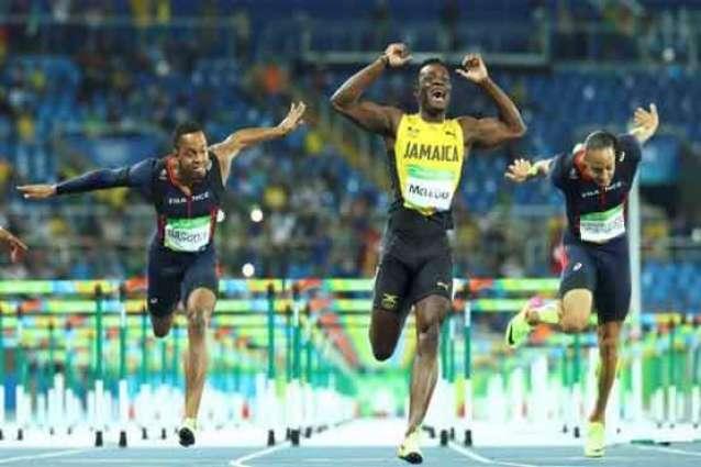 Olympics: McLeod wins 110m hurdles gold