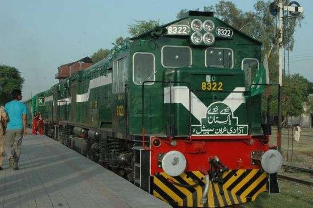 Azadi train left for Gujrat