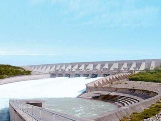 Mangla dam reservoir filled to maximum level