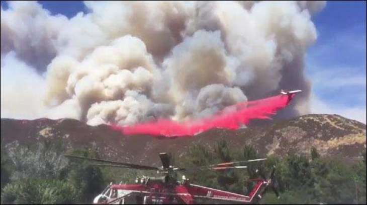 California forest fire became uncontrollable