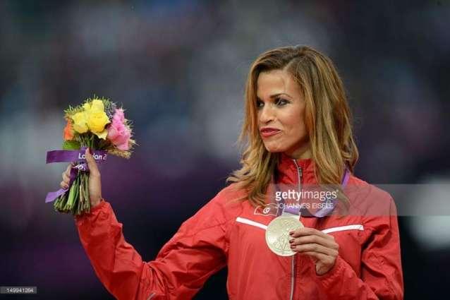 Olympics: Athletics 3000m steeplechase podium