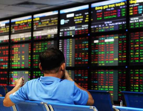 Hong Kong and Shanghai stocks up by lunch