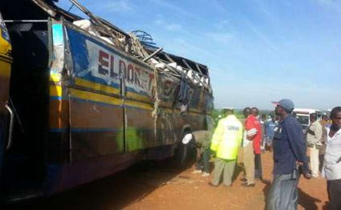 Three killed, 25 injured in road accident