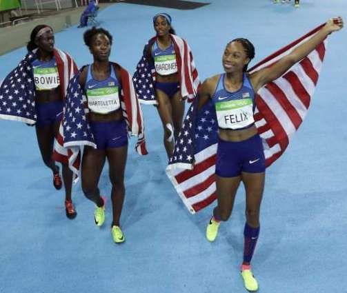 Olympics: Felix-fired US win women's 4x100m relay