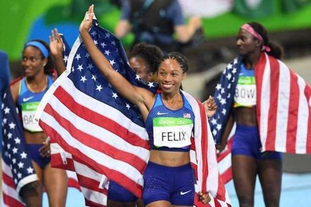 Olympics: Felix hits gold record as US women win relay