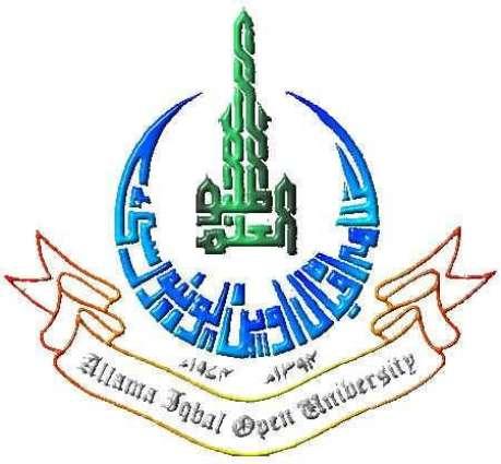 علامہ اقبال اوپن یونیورسٹی اچ داخلہ گھنڑ سانگے اخیری تریخ5ستمبر مقرر