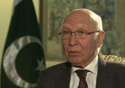 مستشار رئيس الوزراء الباكستاني للشؤون الخارجية: باكستان تتمتع بعلاقات جيدة مع جميع الدول
