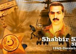 Pakistan Army officers visited and paid tribute to Maj. Shabbir Sharif Shaheed on Defense Day