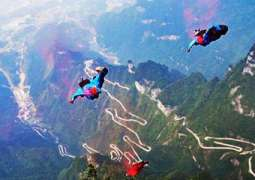 Wingsuit flying competition 2016 concluded in China