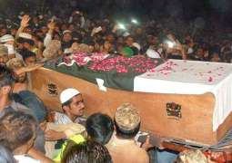 Funeral prayers of martyred soldier held in Faisalabad