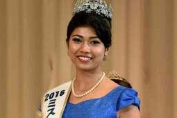 Half-Indian beauty crowned as Miss Japan