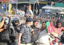 Police baton-charge protesters at Rawalpindi's Committee Chowk