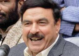 Sheikh Rasheed reaches Committee Chowk on motorcycle