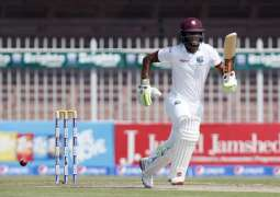 West Indies 141-4 Against Pakistan At Tea-Break
