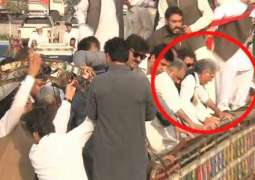 Stage Collapses During CM Khattak's Address