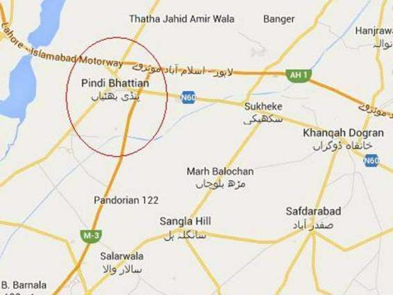Pindi Bhattian: 3 people killed in road accident